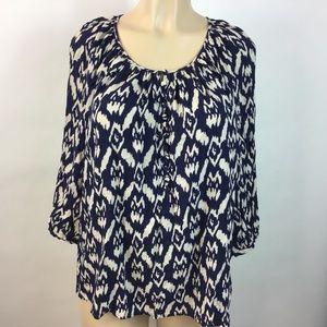 Cynthia Rowley Top Blouse Shirt Size Plus 1X